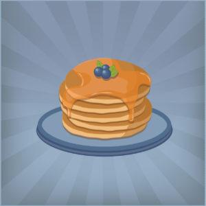 pancake-flat