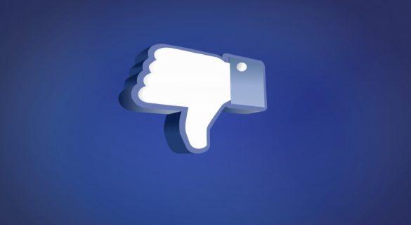 facebook thumb downwards