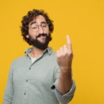 "cba-share-price-nab-share-price-young crazy man making an ""alright"" or ""okay"" gesture approvingly with hand, looking happy and satisfied. Positive check sign."