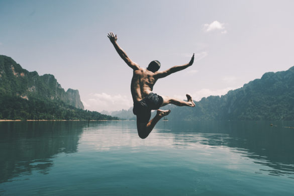 brambles share price image shows a man jumping