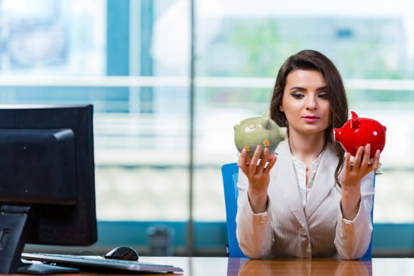 pendal-group-pdl-pdl-share-asx-price-Businesswoman sitting at the office desk